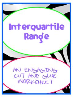 Printables Interquartile Range Worksheet finding the interquartile range ojays learning and middle iqr engaging cut glue worksheet 7 sp
