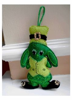 St Patrick's Day Bunny Hanging Decoration and Car Accessory Made to Order £17.73