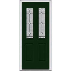 "National Door Company Z007693R Fiberglass Prehung In-Swing Entry Door, Right Hand, Carrollton Decorative Glass, Two 1/2 Lite, 2-Panel, 32"" x 80"", Smooth Rock Garden National Door Company http://www.amazon.com/dp/B01BGIGHR4/ref=cm_sw_r_pi_dp_vW9Wwb1CH8XYJ"