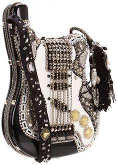 """Le sac guitare """"Graceland"""" par Mary Frances (Graceland Shoulder Bag) vibrant homage à Elvis! Mary Frances Purses, Mary Frances Handbags, My Bags, Purses And Bags, Graceland, Handbag Accessories, Fashion Accessories, Clutch Bag, Crossbody Bag"""