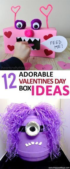 12 Adorable Valentines Day Box Ideas Sunlit Spaces DIY Home Decor Holiday and More 12 Adorable Valentines Day Box Ideas Sunlit Spaces DIY Home Decor Holiday and More irene dasilva Hair nbsp hellip Easy Valentines Day Boxes, Kinder Valentines, Valentines Bricolage, Valentines Day Party, Valentines Day Decorations, Valentine Day Crafts, Minion Valentine, Valentine Ideas, Valentinstag Party
