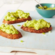 Guacamole on toast. For the full recipe, click the picture or visit RedOnline.co.uk