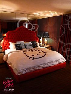 Every girl in this planet loves Hello Kitty because its cuteness. So, here is a list of adorable Hello Kitty bedroom ideas for your adorable bedroom decoration. Hello Kitty Bedroom, Cat Bedroom, Girls Bedroom, Bedrooms, Dream Bedroom, Dream Rooms, Bedroom Stuff, Girl Rooms, Master Bedroom
