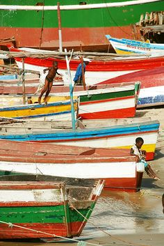 Boats in Beira, Mozambique