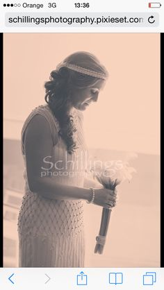 Hair was seductively masked by the wedding cap. But still clear enough for all to see. X