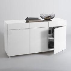 Buffet design laqué High gloss, 3 portes, 3 tiroir