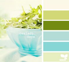The turquoise and celery colors make me want to relax. (and make me crave balsamic vinegrette....strangely)