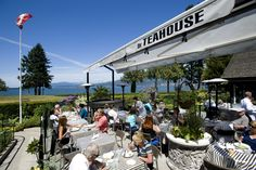 The Teahouse patio overlooking Ferguson Point in Stanley Park