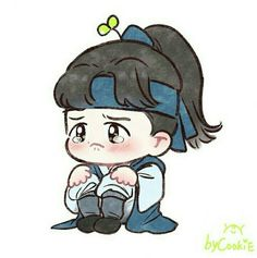 Baekhyun Fanart, Kpop Fanart, Chanyeol, Kyungsoo, Exo Cartoon, Cartoon Fan, Baekhyun Moon Lovers, Chanbaek, Exo Stickers