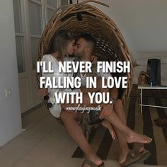I'll never finish falling in love with you. Like and share your thoughts! ➡️ @npmusik for love quotes! #nowplayingmusik #quotes #quote #love #passion #art #feelings #relationship #relationshipgoals #couple #couples #couplegoals #lovequotes #lovequote