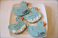 Duck Cookies (1 dozen) on Etsy, $42.00