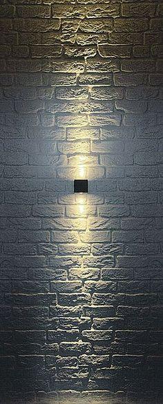 Ideas For Exterior Wall Lights Modern Patio Garage Lighting, Patio Lighting, Landscape Lighting, Cool Lighting, Modern Lighting, Lighting Design, Lighting Ideas, Lighting Stores, House Lighting