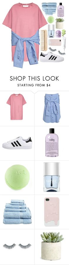 """""""got me looking so crazy in love"""" by heyitsdamiah ❤ liked on Polyvore featuring Marques'Almeida, T By Alexander Wang, adidas Originals, philosophy, Nails Inc., Superior, The Body Shop, Napoleon Perdis, Elizabeth Arden and Allstate Floral"""
