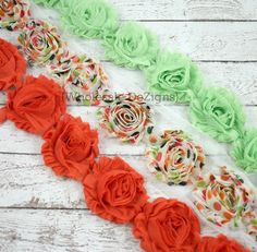 Fall Shabby Chic Chiffon Flowers  Wholesale by WholesaleDeZigns, $6.00