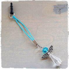 Mobielhanger Geluksengel Aqua blauw