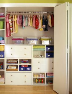 Clothes Closet Organization Solutions- for Jack's room Kid Closet, Closet Bedroom, Girls Bedroom, Closet Ideas, Closet Space, Playroom Closet, Closet Redo, Front Closet, Lego Bedroom
