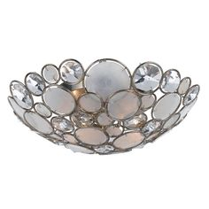 Rosenberry Rooms has everything imaginable for your child's room! Share the news and get $20 Off  your purchase! (*Minimum purchase required.) Palla Antique Silver Leaf Wrought Iron Shell Flush Mount