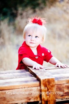 baby, girl, crate, red, fall, autumn, photography  www.KeyandHeartPhotography.com