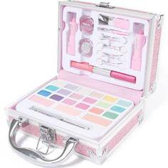 Claire's Glitter Travel Case Makeup Set – Pink – Famous Last Words Claire's Makeup, Cute Makeup, Makeup Cosmetics, Makeup Toys, Make Up Kits, Makeup Kit For Kids, Kids Makeup, Teenage Makeup, Makeup Kits For Tweens