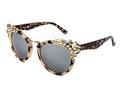 30e8570342 Heartisan Inlaid Crystal Cat Eye Personalized Sunglasses for Womens C3 ***  You can find