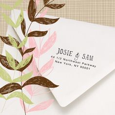 Return Address Stamp - Hand printed font - Stamp return address on housewarming invites, wedding invitations - Josie and Sam Design