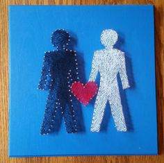 Unique LGBT rainbow pride string art to show your lesbian, gay and everything in between pride by heARTofSARAH on Etsy https://www.etsy.com/listing/251781979/unique-lgbt-rainbow-pride-string-art-to