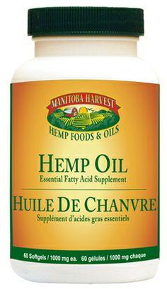 Manitoba Harvest Hemp Oil Soft Gels - 1000 mg