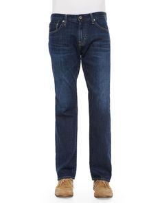 New Hero Straight-Leg Denim Jeans, Indigo (Blue) - AG