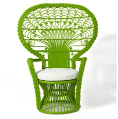 Peacock Chair-ofolive.com...I am seriously mad for these chairs!