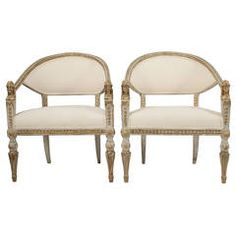Pair of Gustavian Balj Chairs, Ephraim Stahl Art | From a unique collection of antique and modern armchairs at https://www.1stdibs.com/furniture/seating/armchairs/