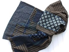 Boro scarf made from vintage Japanese striped by IndigoMountains, $150.00 on Etsy NEGATIVE EXAMPLE: Sushiko? Are you kidding?