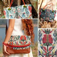 All bags made with Peruvian floral-pattern cotton fabric.    #MangkudHandmade