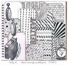 #papercraft #artjournaling Dans mon zen'art journal...
