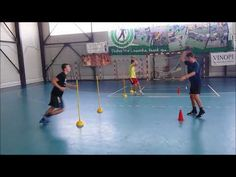 Handball Passtraining in der 2er-Gruppe - YouTube