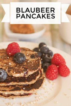 Blaubeerpancakes, gesund und vegan :) #vegan #healthy #pancakes