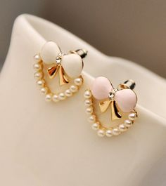 Bow pearl earrings AEBJF
