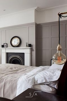 Bedroom Inspo, Home Decor Bedroom, Bedroom With Ensuite, Master Bedroom, Self Build Houses, Victorian Terrace, Flat Ideas, Skylights, Panelling