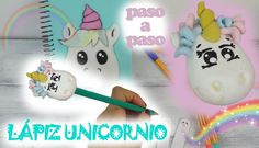 Cómo hacer un lápiz de unicornio con Fimo o arcilla polimérica - PASO A PASO - https://www.manualidadeson.com/lapiz-de-unicornio.html