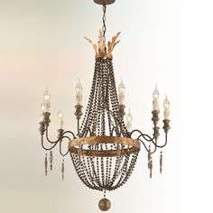 French Luxe Basket Chandelier - 10 Light french_bronze