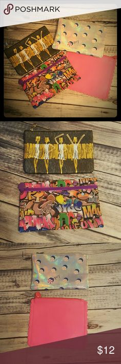 Ipsy bags (set of 4) This is for 4 Ipsy bags.  All the bags are nwot.  All my stuff comes from a smoke free and pet free home.  I encourage you to bundle to save on shipping, so check out my closet for other deals! Ipsy Bags Cosmetic Bags & Cases