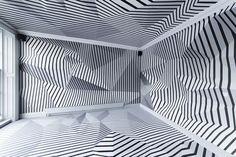 shiro studio inserts house of peroni pavilion + installation in central london - shiro studio inserts house of peroni pavilion + installation in central london - Dazzle Camouflage, Interior Architecture, Interior Design, Tape Art, Shiro, Wall Design, Set Design, House, Studio Room