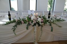 Soft Pinks and Sage Green Traditional Top Table