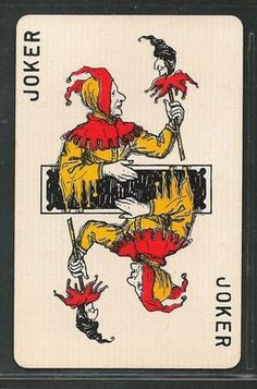"""Search Results for """"joker"""" – Page 2 – AntiquesNavigator — Online Antique Stores Unique Playing Cards, Playing Cards Art, Joker Playing Card, Joker Card, Disney Collectibles, Jester Tattoo, Joker Queen, Victor Nizovtsev, Jokers Wild"""