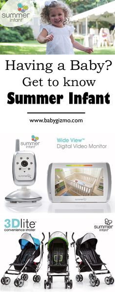 Having a baby? Get to know the awesome products from Summer Infants! High tech baby monitors, fantastic strollers and more! #baby #babyregistry