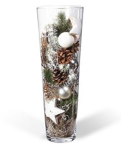 Kugelvase Anticipation – order now from Valentins - Weihnachten Christmas Vases, Silver Christmas Decorations, Christmas Centerpieces, Winter Christmas, Christmas Home, Valentine Decorations, Holiday Crafts, Holiday Decor, Christmas Inspiration