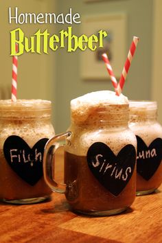 DIY Hogsmeade Butter Beer Tutorial - Harry Potter Birthday Party Ideas