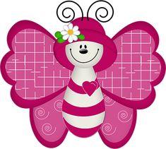 "Photo from album ""Рисованные бабочки"" on Yandex. Butterfly Books, Butterfly Clip Art, Paper Butterflies, Butterfly Mobile, Pink Butterfly, Gifs Disney, Cute Clipart, Tole Painting, Punch Art"