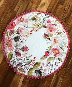 Your place to buy and sell all things handmade Floral Round Baby Play Mat Baby Tummy Time, Do It Yourself Inspiration, Baby Sewing Projects, Floral Nursery, Baby Sensory, Baby Milestones, Handmade Baby, Diy Baby, Playmat Baby