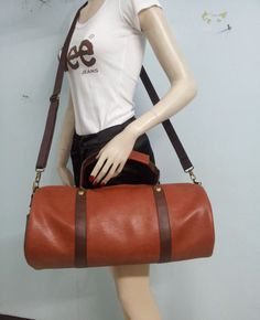 Handmade Barrel/ PU Leather/Backpacker/Travel Bags/Sport Bag by PMKSHOP on Etsy