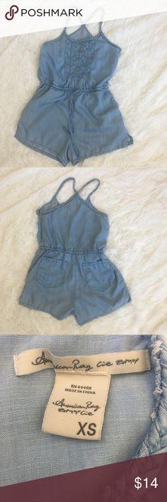 Spotted while shopping on Poshmark: American Rag Soft Denim Look Romper Size XS! #poshmark #fashion #shopping #style #American Rag #Pants